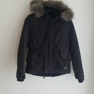 TNA Faux Fur Hooded Jacket